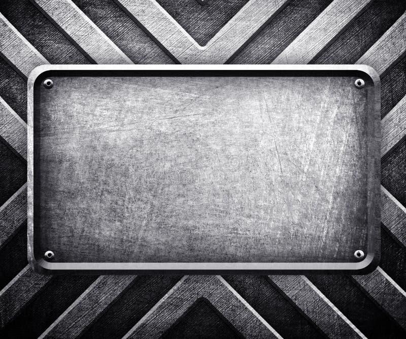 Fundo da placa de metal ilustração do vetor