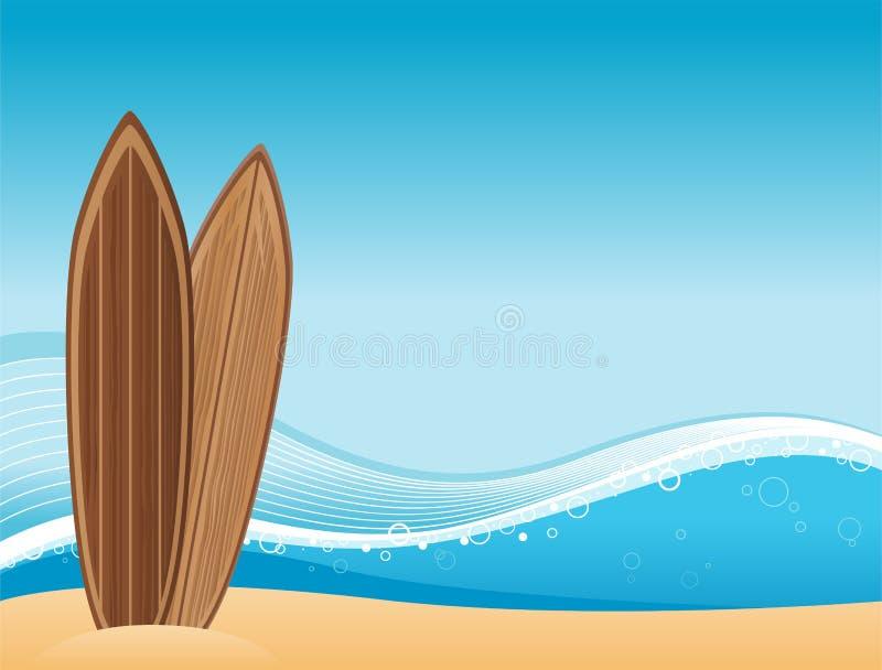 Fundo da praia da ressaca ilustração do vetor