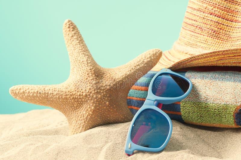 Fundo da praia do vaction do verão fotografia de stock royalty free