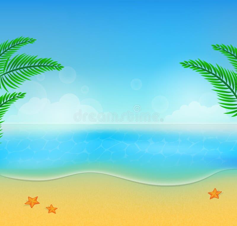 Fundo da praia do verão ilustração do vetor