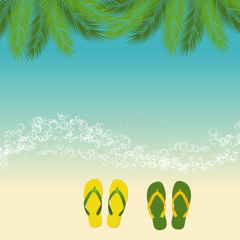 Fundo da praia do verão ilustração royalty free