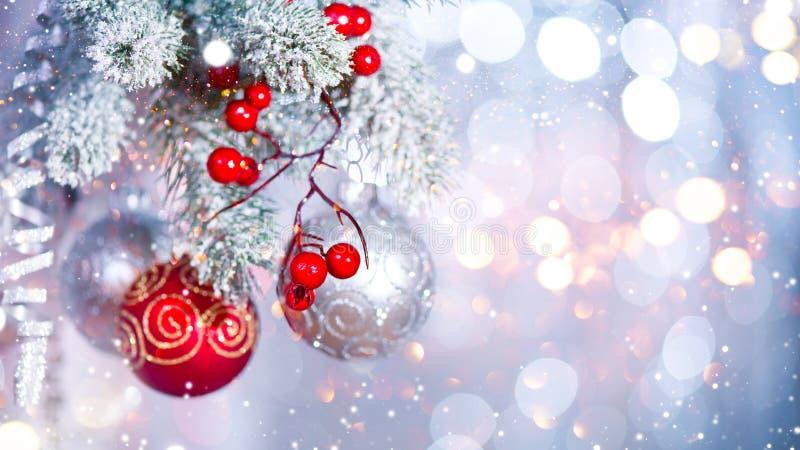 Fundo da prata do sumário do feriado do Natal imagem de stock royalty free