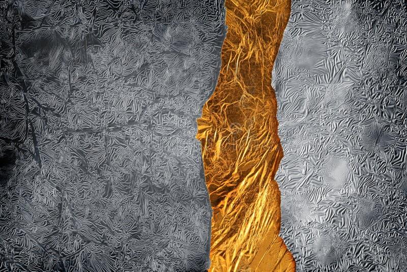 Fundo da prata e do ouro fotos de stock royalty free