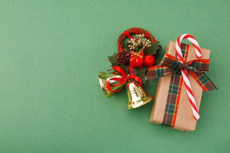 Fundo da preparação do Natal, vista superior imagem de stock royalty free