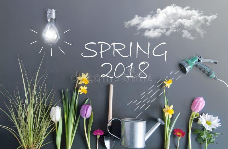 Fundo 2018 da primavera de fotografia de stock