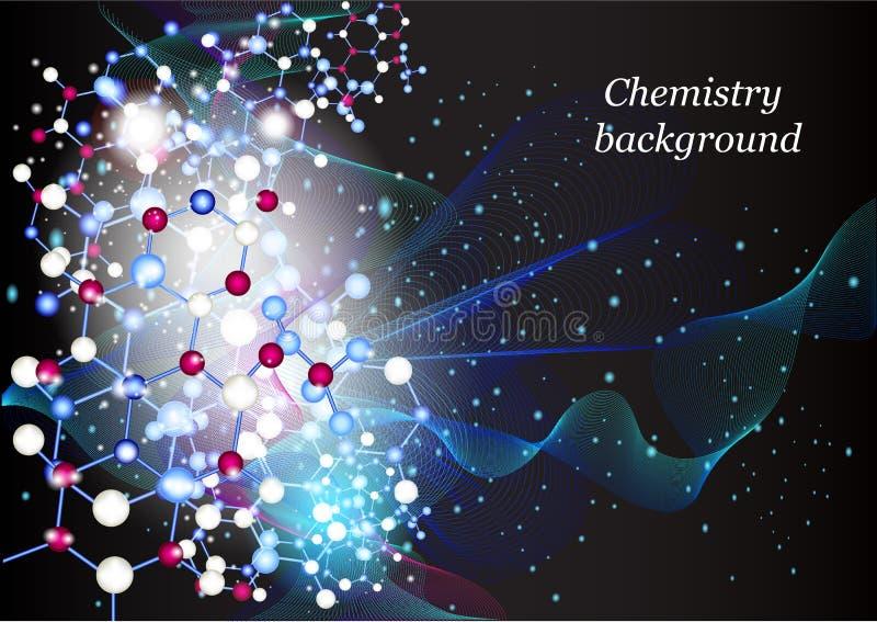 Fundo da química ilustração royalty free