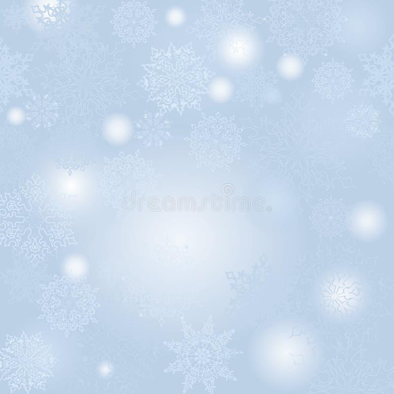 Fundo da queda de neve do Natal Cartão da neve do feriado de inverno ilustração stock