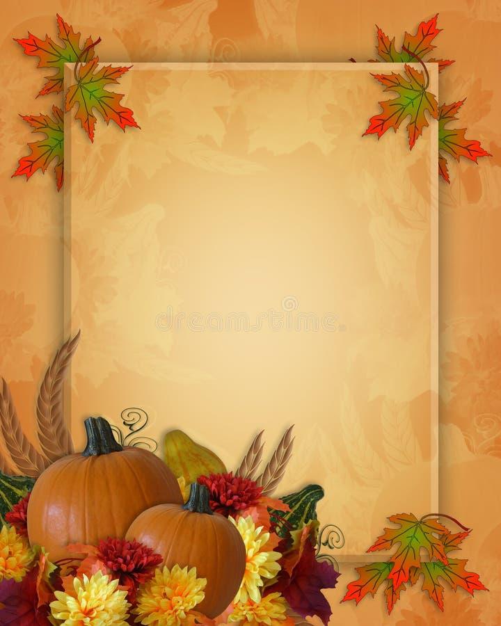 Fundo da queda do outono da acção de graças ilustração do vetor