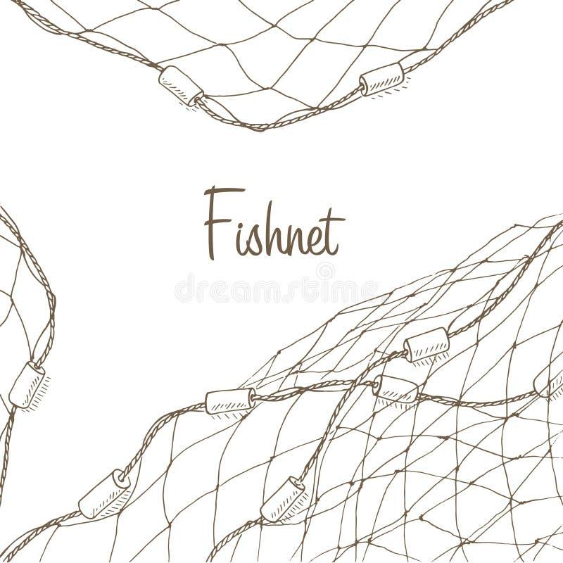 Fundo da rede de pesca ilustração royalty free