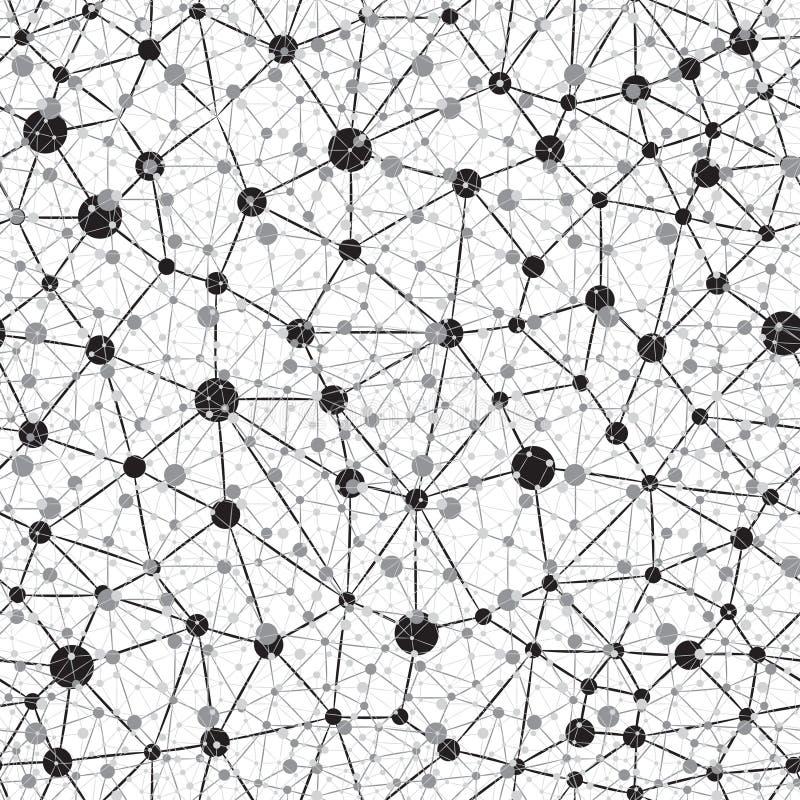 Fundo da rede neural de Seamlees ilustração do vetor