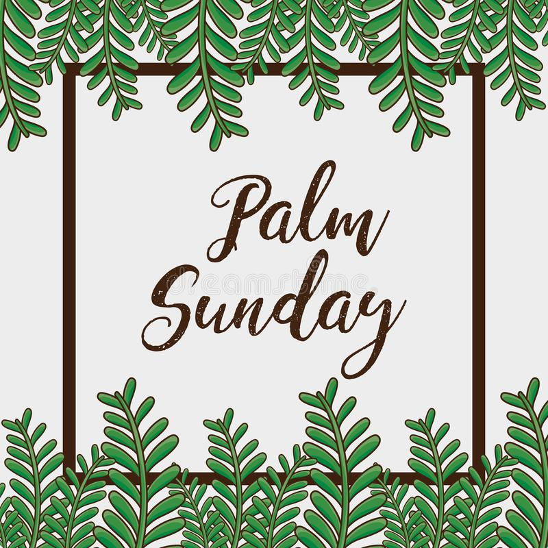 Fundo da religião dos ramos da palma de domingo ilustração royalty free