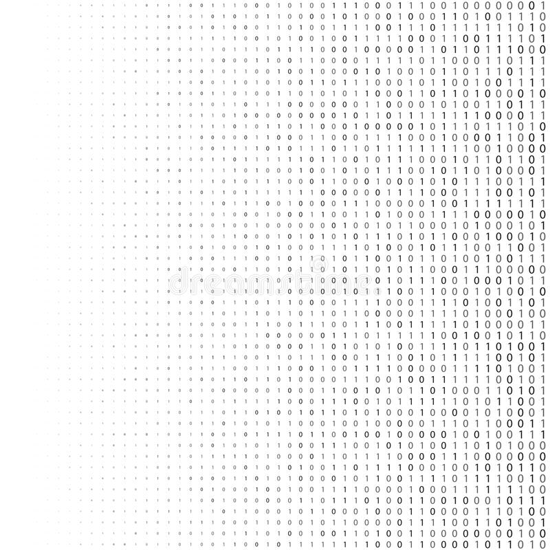 Fundo da reticulação do código binário Símbolos zero e um abstratos Codificando a ilustração de programação do conceito ilustração stock