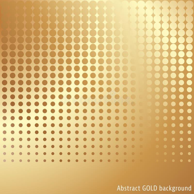 Fundo da reticulação do ouro ilustração stock