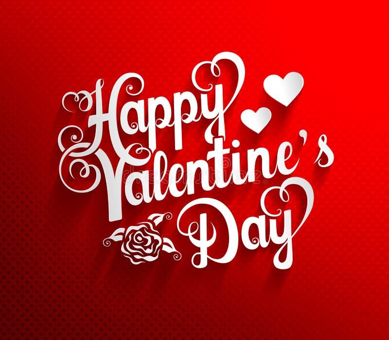 Fundo da rotulação do dia de Valentim ilustração royalty free