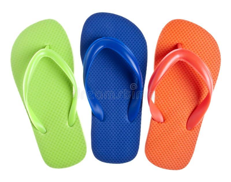 Fundo da sandália do falhanço da aleta do verão fotos de stock
