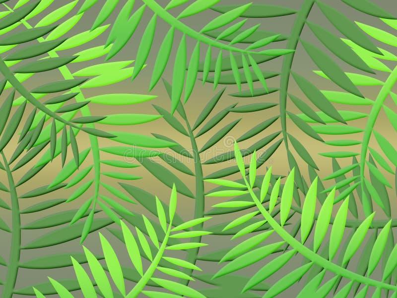 Fundo da selva (01) ilustração royalty free