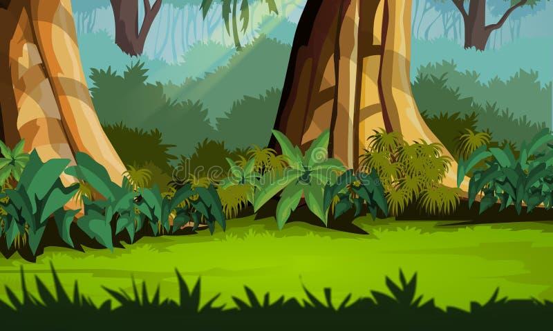 Fundo da selva - cenário agradável ilustração royalty free