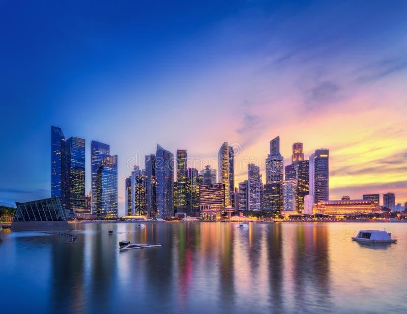 Fundo da skyline de Singapura foto de stock
