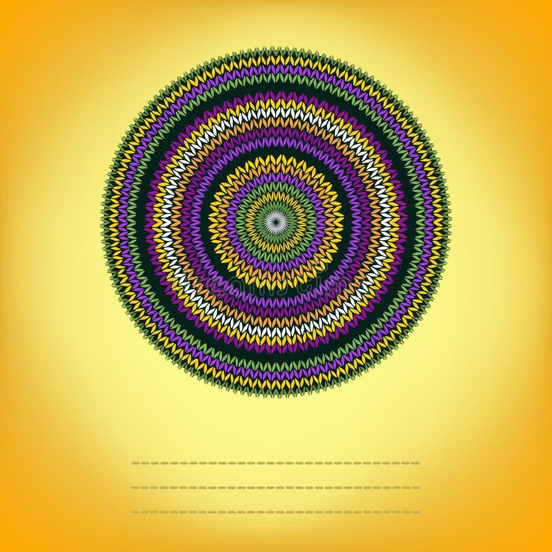 Fundo da tampa com círculo decorativo teste padrão feito malha ilustração stock