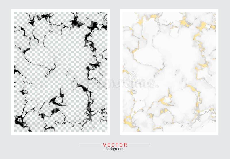 Fundo da tampa do mármore do ouro, molde ajustado do vetor ilustração do vetor