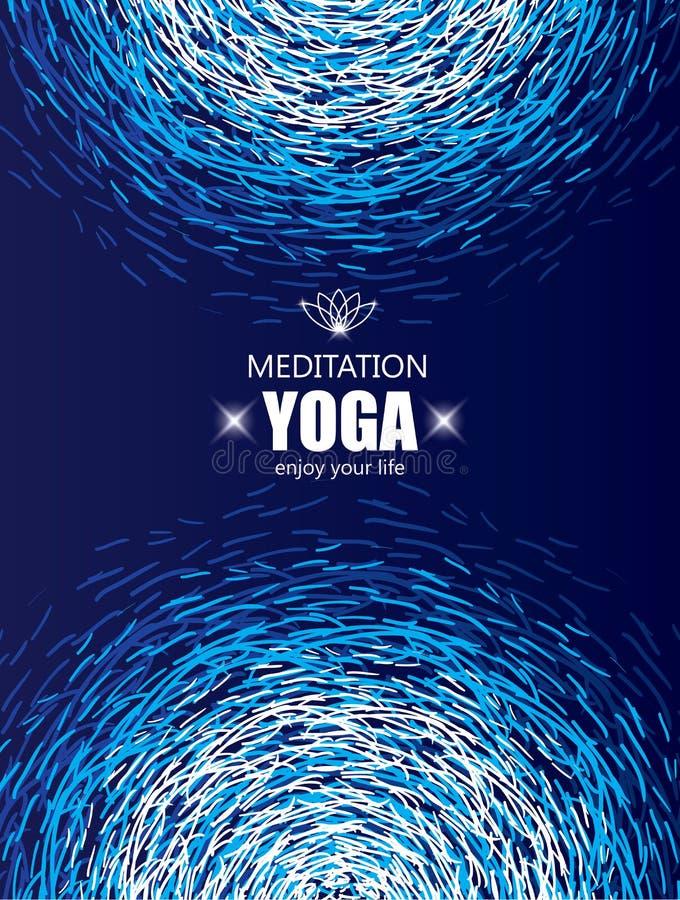 Fundo da tampa para a ioga e a meditação ilustração royalty free