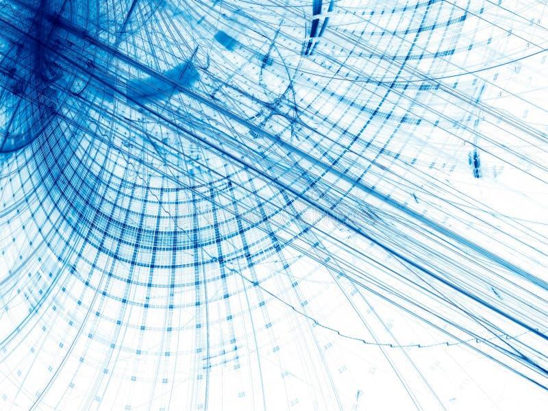 Fundo da tecnologia com curvas e grade - sumário digitalmente ilustração royalty free