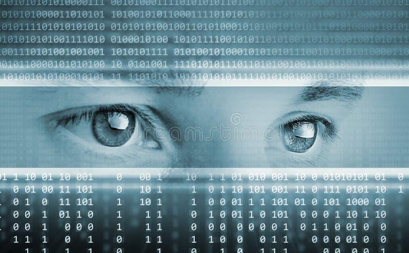 Fundo da tecnologia com olhos