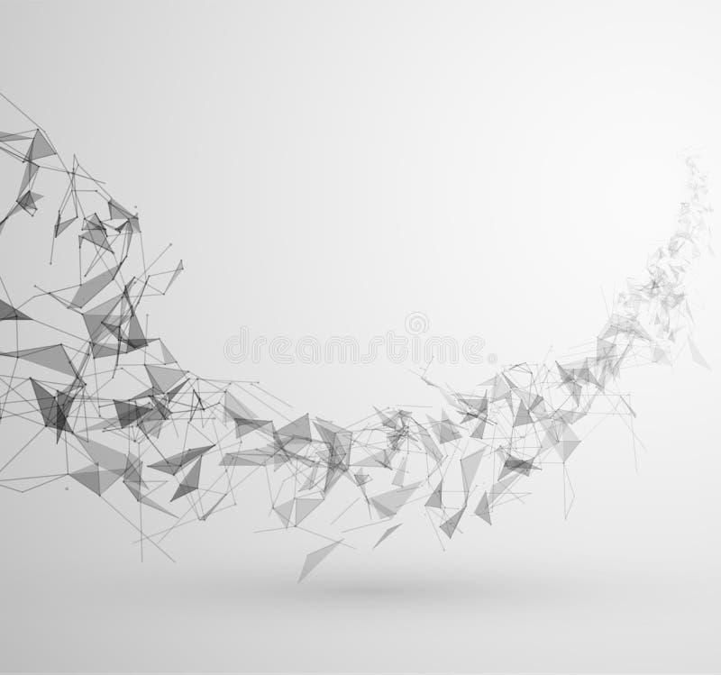 Fundo da tecnologia da conexão do polígono Vetor eps10 ilustração do vetor