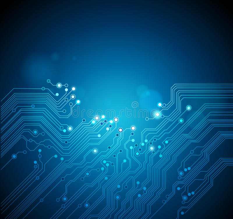 Fundo da tecnologia da placa de circuito ilustração stock