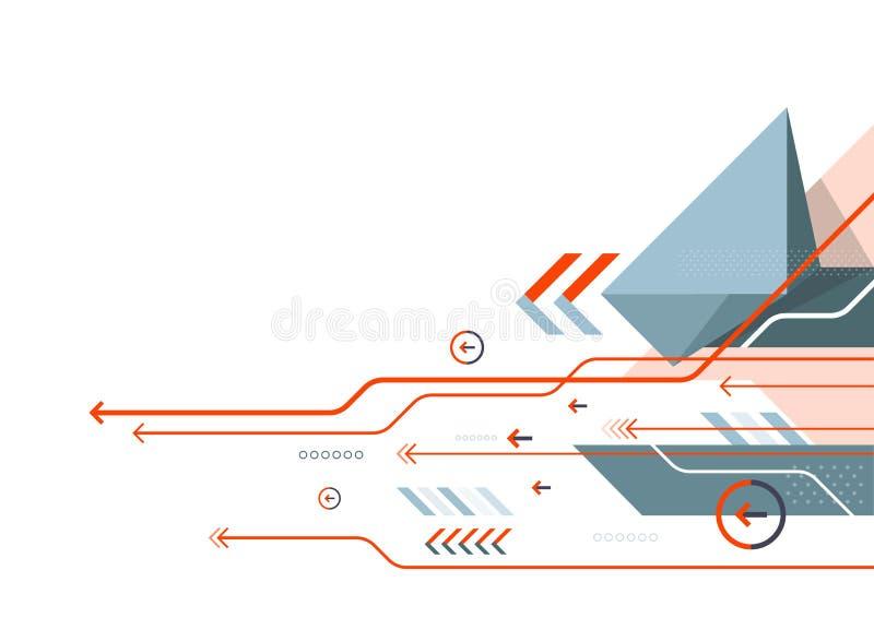 Fundo da tecnologia de comunicação do sumário do vetor, projeto de rede digital ilustração royalty free