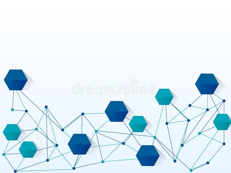 Fundo da tecnologia de rede do projeto do vetor ilustração royalty free