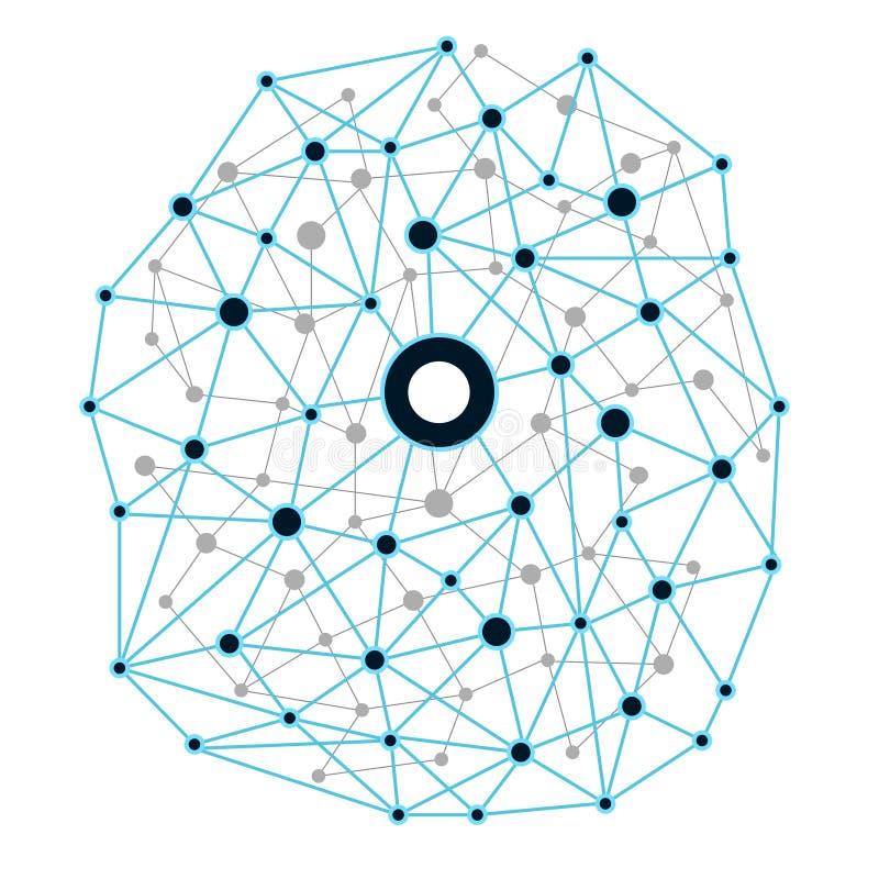Fundo da tecnologia de rede Ilustração EPS10 do vetor ilustração do vetor