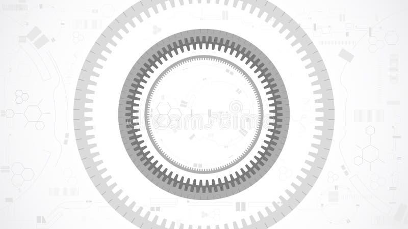 Fundo da tecnologia do sumário da roda de engrenagem ilustração stock