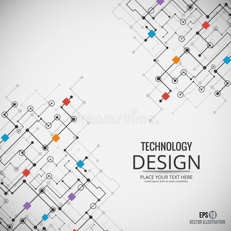 Fundo da tecnologia Fundo do vetor Eps10 ilustração stock