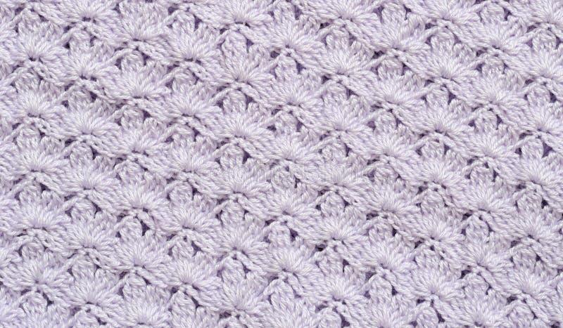 Fundo do crochet do Lilac foto de stock royalty free
