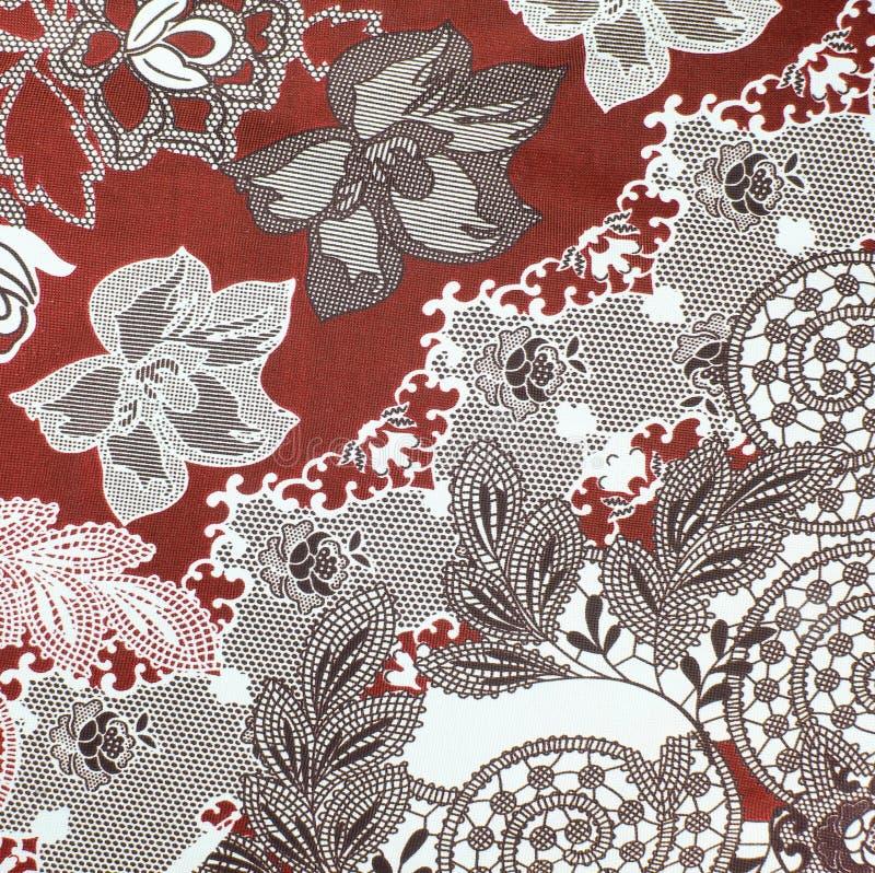 Fundo da tela, fragmento da matéria têxtil retro colorida da tapeçaria imagem de stock royalty free