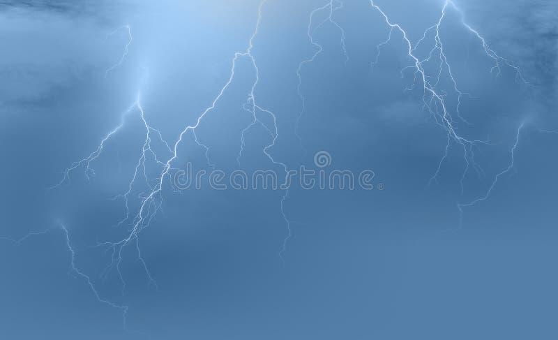 Fundo da tempestade do relâmpago imagens de stock