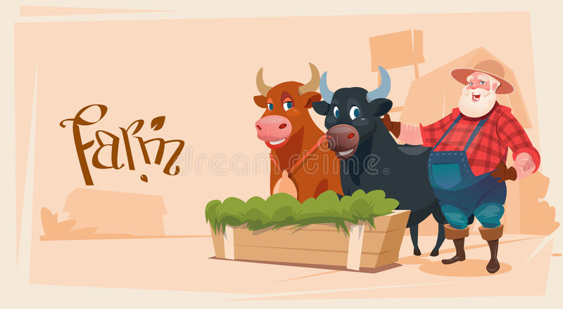 Download Fundo Da Terra De Breeding Animals Cow Do Fazendeiro Ilustração do Vetor - Ilustração de terra, agribusiness: 80100394