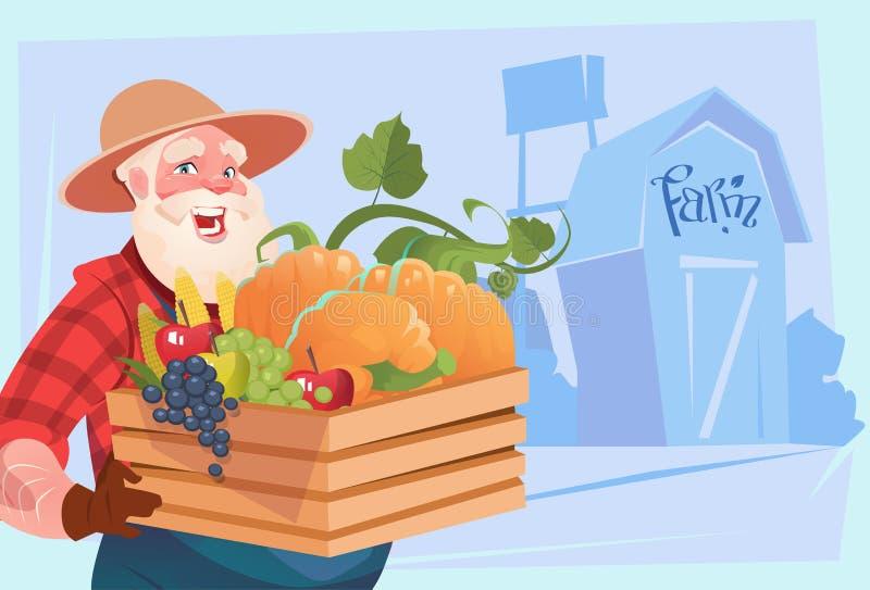 Download Fundo Da Terra Dos Vegetais De Hold Box With Do Fazendeiro Ilustração do Vetor - Ilustração de colheita, naughty: 80100486