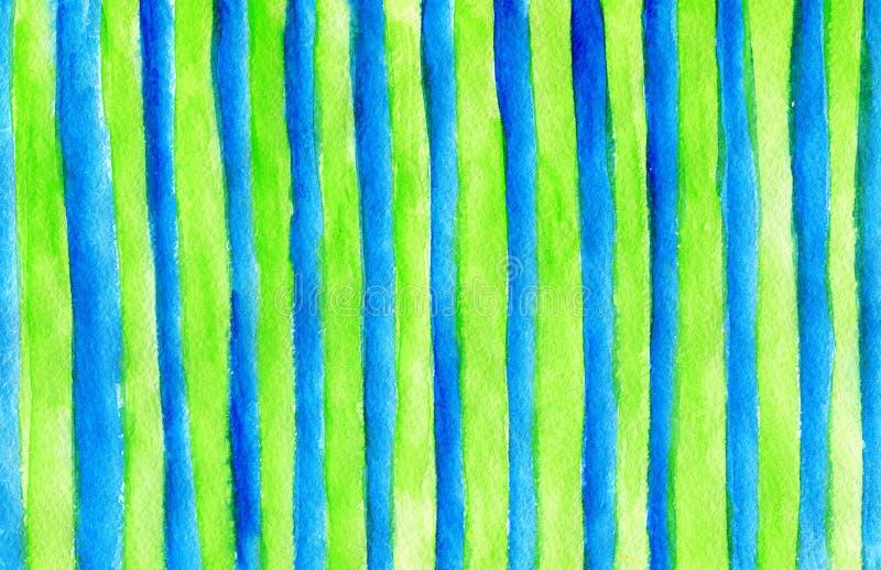 Fundo da textura da aquarela Listras coloridas tiradas m?o ilustração stock