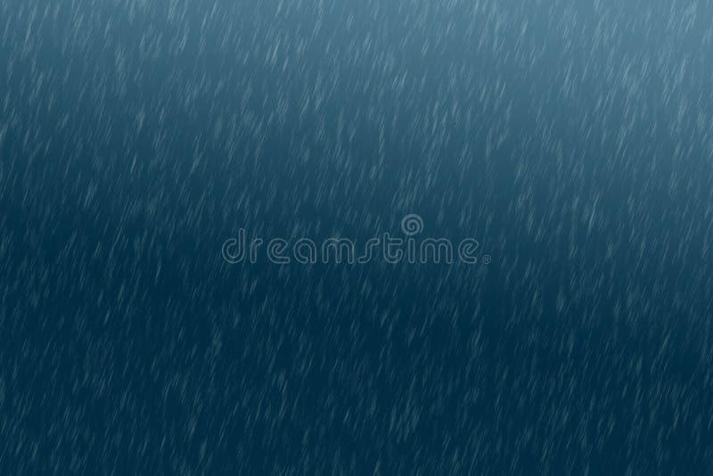 Fundo da textura da chuva chuva do fundo na luz da noite imagem de stock