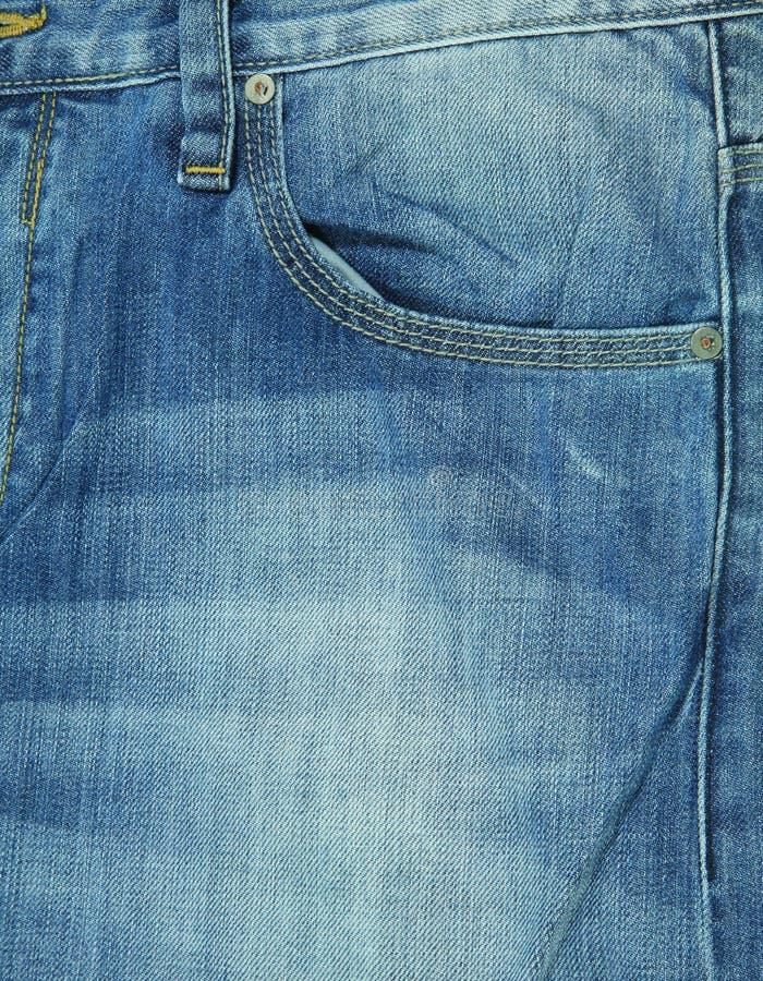 Fundo da textura das calças de brim e dos bolsos foto de stock
