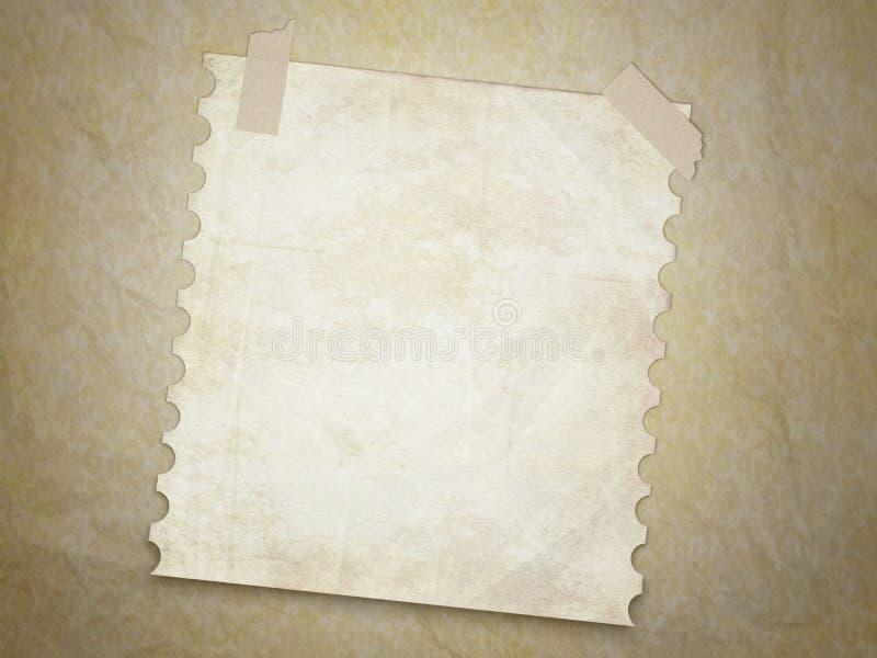 Fundo da textura de Grunge com a página velha da nota. ilustração do vetor