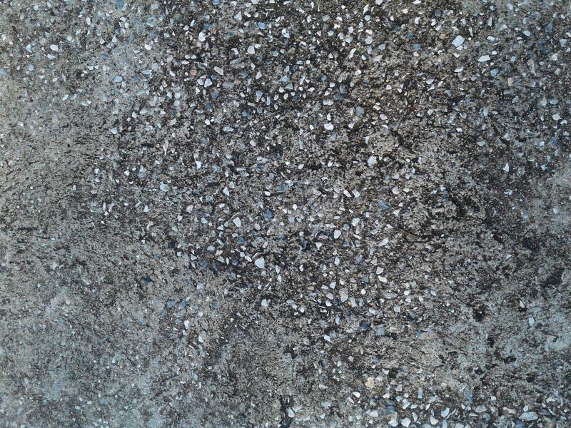Fundo da textura do assoalho do cimento Teste padrão de pontos preto e branco ilustração stock