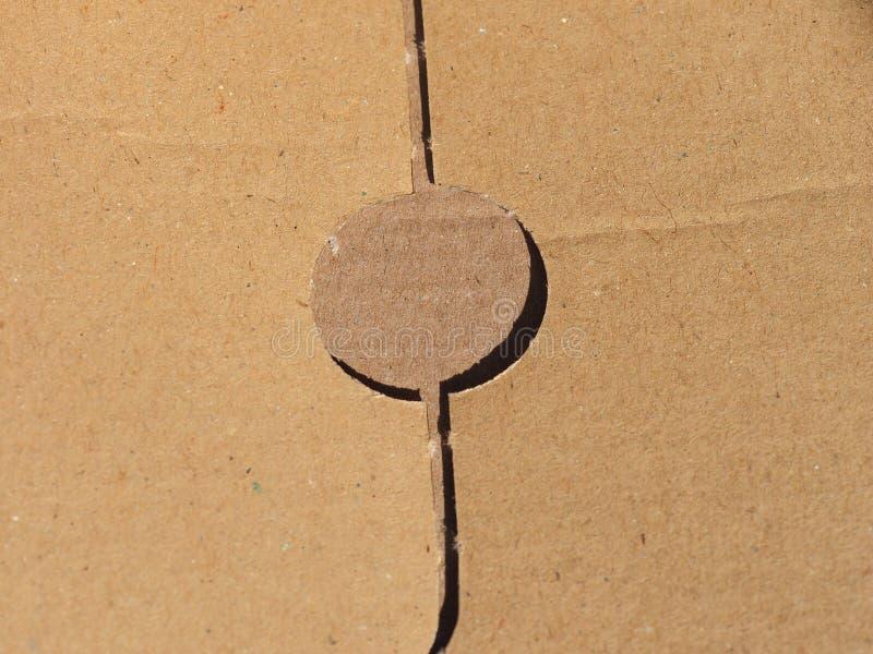 Fundo da textura do cartão ondulado de Brown imagem de stock royalty free