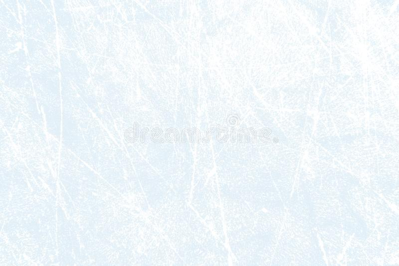 Fundo da textura do hóquei em gelo - gelo branco azul com riscos fotos de stock