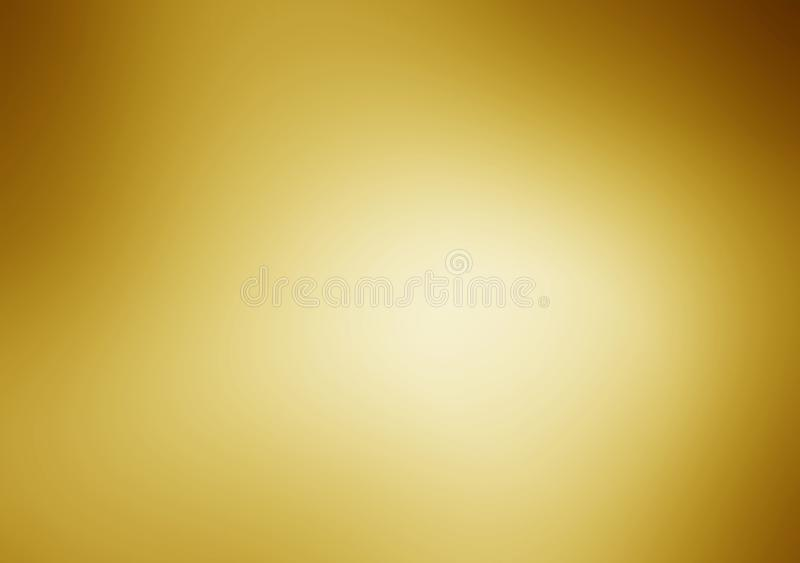 Fundo da textura do metal do ouro com feixes de luz horizontais foto de stock royalty free