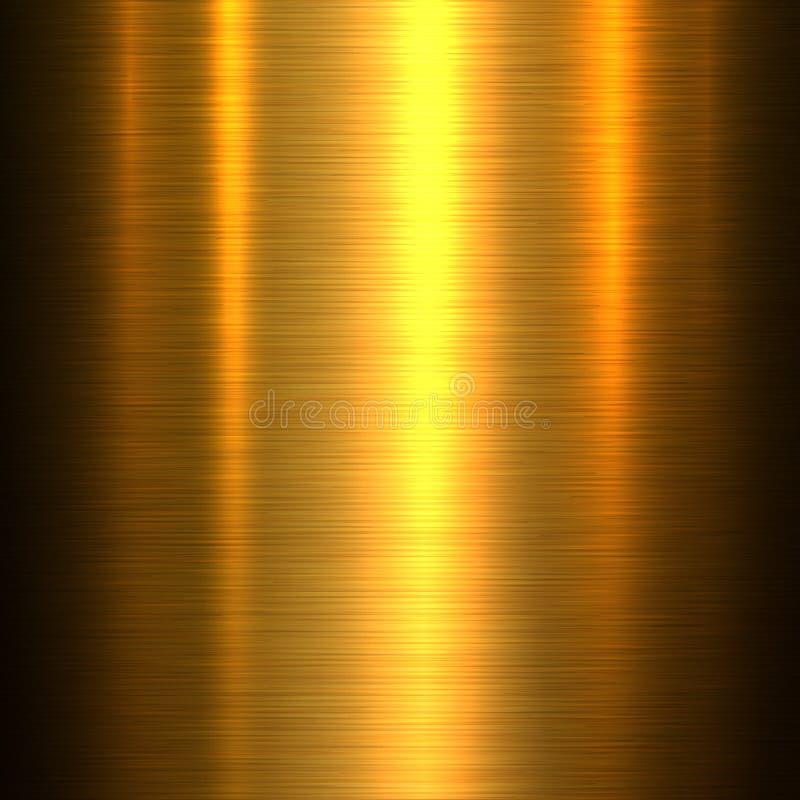 Fundo da textura do ouro do metal ilustração stock