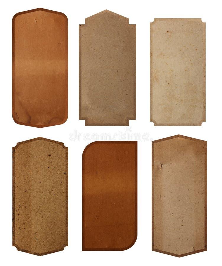 Fundo da textura do papel do projeto da etiqueta do vintage fotos de stock royalty free