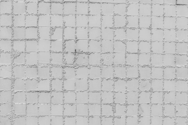 Fundo da textura do teste padrão dos azulejos do quadrado branco imagem de stock